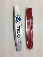 2PCS MAZDA  METAL SIDE REAR FENDER EMBLEM BADGE STICKER SIZE 98MM