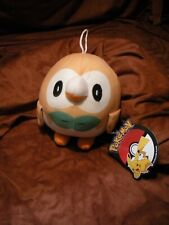 """Toy Factory 6"""" Rowlet Plush Pokemon - New with Official Tags"""