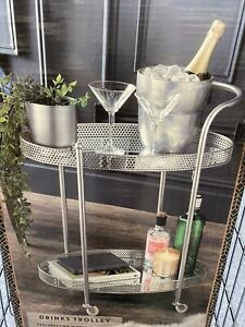 Deco Glamour Drinks Trolley