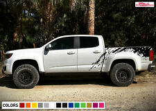 Decal Sticker Graphic Side Bed Mud Splash Kit for Chevrolet Colorado 2012-2017