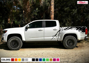 Decal Sticker Graphic Side Bed Mud Splash Kit for Chevrolet Colorado 2012-2019