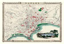 George Bradshaw'S CONTINENTAL Piano della città di Napoli 1896 - 1000 Pezzo Puzzle