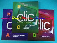 book libro CLIC NUOVA EDIZIONE 3 libri + cd rom A B C Fiumetti JUVENILIA (L27)