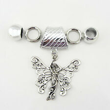 Fashion DIY Necklace Jewelry Scarf Angel wings pendant set Charms @#29