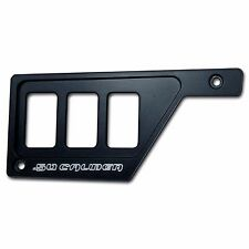 CNC Left Dash Panel Plate Bezel 3 Rocker Switch Polaris RZR XP1000 Stealth Black