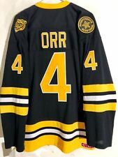 Reebok Premier NHL Jersey Boston Bruins Bobby Orr Black Throwback sz S