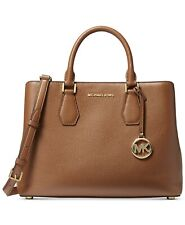 Michael Kors Camille Luggage leather med satchel nwts crossbody bag retail $348