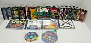 Lot 20 pc cd rom computer lasvegas casino card games poker chess slots monopoly