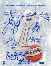 1997 WNBA Championship Signed Commemorative Program Autograph Auto TriStar
