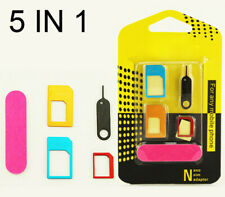 Nano to Micro/Standard Sim Card adapter Converter for any Carrier Free Shipping