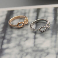 2pcs Letter Rings Best Friend Punk Siver&Gold Infinity 8 Bowknot Friendship Ring