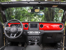 2pcsfit For 2020-2021 Jeep Gladiator JT  Red Center console dashboard Cover Trim