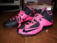 RARE NIKE MVP ELITE MLB PLAYER ISSUED HOT PINK MOTHERS DAY BASEBALL CLEATS 13