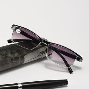 Mens Womens Retro TR90 Reading Glasses Tinted Sunglasses Readers 1.0 ~ 4.0 D