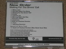 NEW ORDER - Waiting For The Sirens' Call - 12 Track ADVANCE USA PROMO CD! RARE!