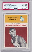 RG: 1961 Fleer Basketball Card #36 Oscar Robertson Rookie Cinn.Royals - PSA 6