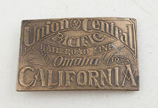Union Pacific Railroad Line Omaha to California Belt Buckle (E5L)