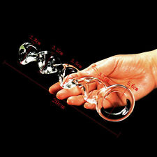 Crystal Glass Dildo Clitoral G-Spot Stimulation Anal Butt Plug Sex Toy Unisex