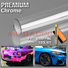 "*12""x60"" Silver Chrome Vinyl Wrap Sticker Decal Sheet Air Release Bubble Free"