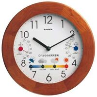 Empex Wall Clock Weather forecast and Temperature hygrometer Brown BW-5058