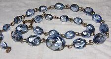 Pellicola piuttosto vintage blu perle di vetro ART DECO 1920 italiano Murano Beads
