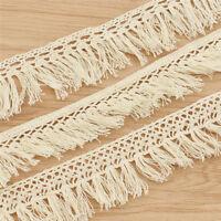 3Yards Cotton Fringe Trimmings Beige Tassel Lace Sewing Embellishment Decoration