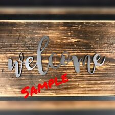 """New listing """"Welcome"""" Crafter Series Diy Metal Wall Art Home Decor Outdoor Patio Garden"""