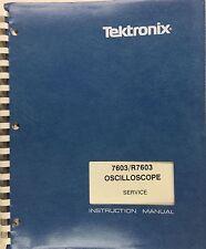 Tektronix 7603/R7603 Oscilloscope Service Instruction Manual P/N 070-1429-00