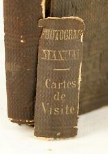 *RARE*1862 The Photograph Manual:Cartes de Visite Process & Stereoscopic Burgess