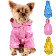 Waterproof Dog Hooded Raincoat Rain Coat Pet Jacket Puppy Clothes Costume