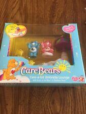 2003 Care Bears Care A Lot Umbrella Lounge Play Set Love A Lot Bedtime Bears