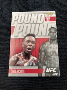 2021 PANINI INSTANT UFC Pound For Pound SP RARE 1 OF 541 ISREAL ADESANYA