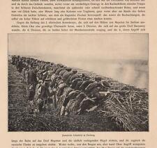 Japanische Infanterie Soldiers Fight Russo-Japanese War  Original DRUCK von 1910