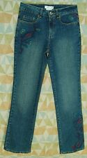 Teal Purple Magenta PAISLEY Embroidered Boot Cut COLDWATER CREEK Jeans! 4