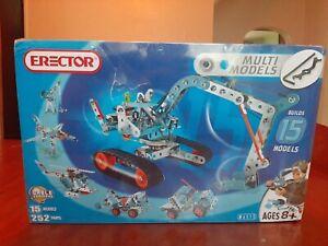 Meccano-Erector - Multimodel -15 Model Set ( 250+pieces) 6515
