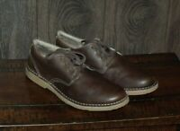 NWOB LL Bean Oxford Style Leather Shoes SIZE 10.5 Medium Made in Brazil