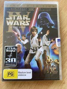 Star Wars A New Hope (DVD, 1977) Brand New Sealed IV Digital Remaster