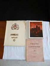 lot 3 livres/amiens 1914-1918/ruée sur amiens & libération somme/tragédie amiens