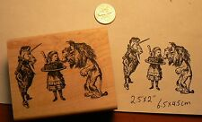 Alice in wonderland cake with unicorn and lion rubber stamp P50