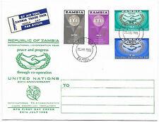 Zambia 1965 ITU Centenary FDC LUANSHYA Jul 26 - Trade Fair NDALO