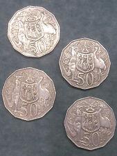 4 x Double Bar 50 Cent Coins (2 x 1979 ; 2 x 1980)