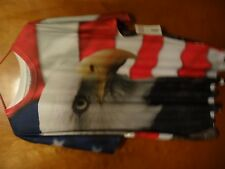 American Eagle Red White Blue Graphic Shirt Polyester