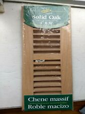 Decor Grates Wlf410-N 4 in. x 10 in. Oak Laquered Natural Solid Wood Flushmount