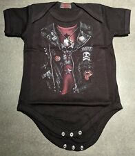 LuckyTagy Sons of Anarchy Season Unisex Cool Toddler Romper Baby GirlJumpsuit Black