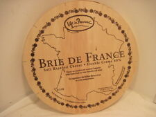 OLD WOOD-WOODEN LE SUPER BRIE 60 DU VILLAGE FROMAGE CHEESE BOX CRATE ADVERTISING