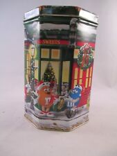 M&M christmas Tin ~ 1998 ~ Confectionery & Patisserie Shoppes #8 ~ Mars inc.