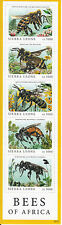 Sierra Leone 2010 MNH Bees of Africa Honey Leafcutter Maranga Bee 5v M/S Stamps