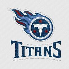 NFL:  Tennessee Titans Bling - Iron-on Glitter Vinyl & Rhinestone Transfer