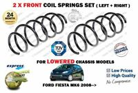 FOR FORD FIESTA MK6 LOWERED MODELS 2008 > NEW 2X FRONT COIL SPRINGS SET