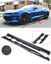 Carbon Fiber Side Skirts Rocker Panels For 16-Up Camaro LS LT SS RS | ZL1 Style